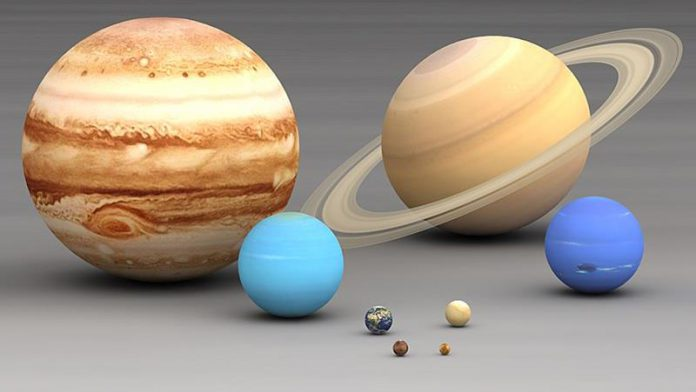 The scale of the solar system; Mercury, Mars, Venus, Earth, Neptune, Uranus, Saturn, Jupiter, quiz