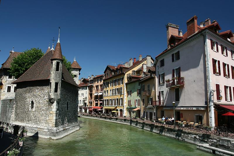 Annecy-The Palais de l'Isle River Thiou-Venice of the Alps