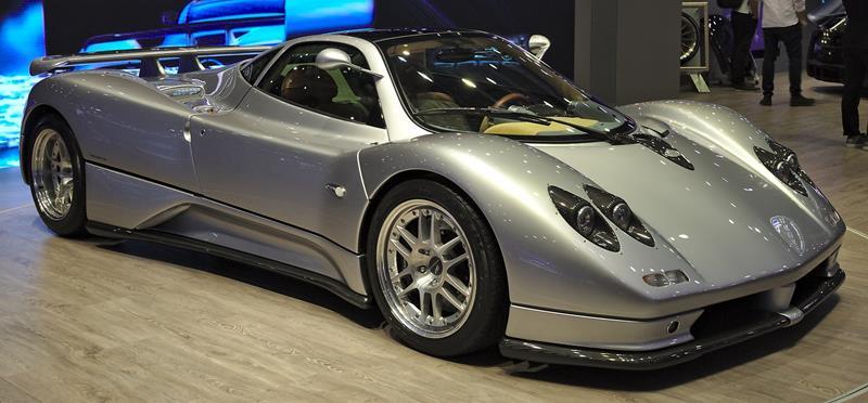 Pagani Zonda C12 silver-Italian supercar-hypercar