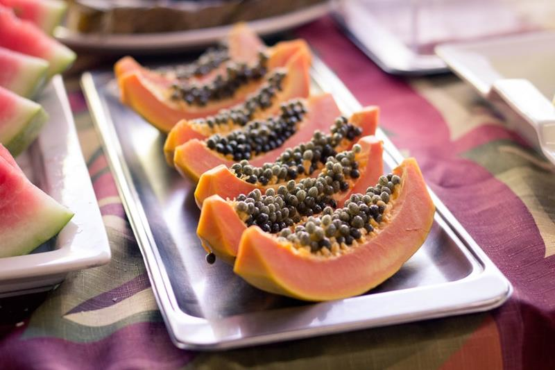 Papaya-carica papaya-exotic fruit quiz